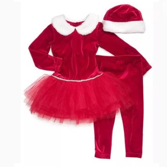 NWT Baby Girls 3-Piece Christmas Outfit Size 24 Months